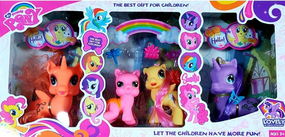 My Pretty Pony 16 Piece Unicorn Family Set With Accessories